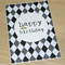 Male Happy Birthday Card -  golden moustache