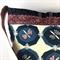 Handcrafted kimono fabric handbag-  with beaded tassel- purple and blue
