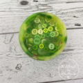 Button Bowl - Resin & Buttons - Green