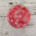 Button Bowl - Resin & Buttons - Pink