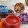 Button Bowl - Resin & Buttons - PURPLE