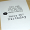 Fun Happy Birthday card - Stop Lying about your age!