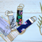 Fabric key ring gift, vintage fabric key lanyard, teachers gift, gift under 15