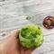 Button Bowl - Resin & Buttons - Green