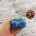 Button Bowl - Resin & Buttons - BLUE