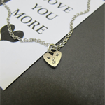 Couples initial Necklace | Valentine Gift for Her | Tiny Heart necklace