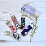 Fabric key ring gift, vintage fabric key lanyard, teachers gift, gift under 10