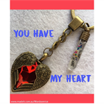 YOU HAVE MY HEART keyring