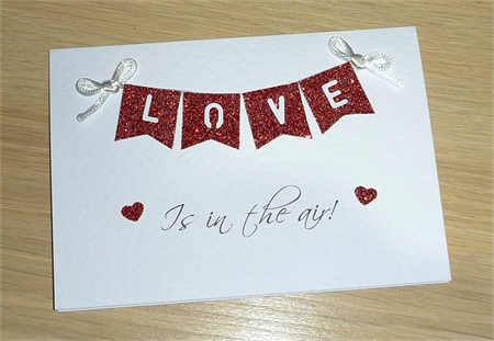 Love is in the air - Wedding Engagement Anniversary Card