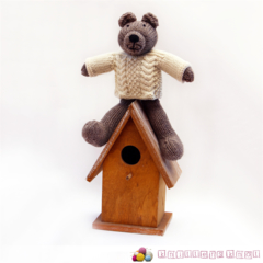 Gideon - Hand Knitted Bear