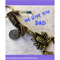 WE LOVE YOU DAD scorpion keyring