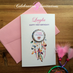 Birthday Card - Dream Catcher, Personalised