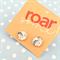 Cute Dinosaur Stud Glass Earrings