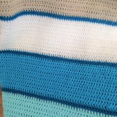Crochet Baby blanket /pram Blue ocean