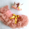 Girls Rose Gold First Birthday Flower Crown & Pettiskirt