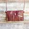 Brown leather clutch, gold clutch purse