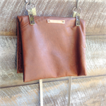 Tan leather bag, repurposed leather bag, Italian leather, snake skin