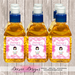 Pamper Spa Party Pop Top Juice Bottle Labels - YOU PRINT