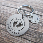 Fathers Day Gift, Gift For Dad, Gift For Father, Dad Key Chain,Baby Feet Persona