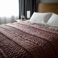 Chunky knit Merino blanket