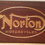 Vintage Norton Motorcycle Jarrah Block Mount