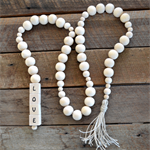 Personalised Name Wooden Wood Bead Garland Boho Beads Eco-Friendly Personalized