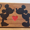 Mickey and Minnie Wooden Block Mount