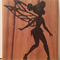 Tinkerbell Wooden Block Mount