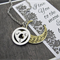 Best Friend Gift- I Love You to the Moon & Back Initial Necklace-Best Friend Nec