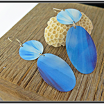 RAY-DIANT, GRAPHIC PRINT EARRINGS