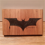 Batman Wooden Block Mount
