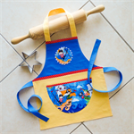 Kids/Toddlers Apron Pirates - lined kitchen/craft/art/play apron with pocket