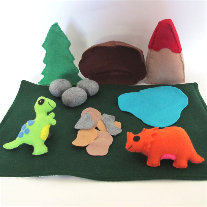 Dinosaur Felt Play Mat Dinosaur Playscape Creative Wishes On Madeit