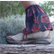 Gaiters: short hike gaiter, stone sand burr protection. Cotton n'elastic