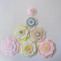 Pastel Felt Flowers Wall Decorations, Girls Bedroom Decor
