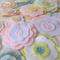 Pastel Felt Flowers Wall Decorations, Girls Bedroom Decor