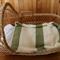 Crochet Baby Blanket / Wool / Soft / Leaf / Cream / Machine Washable