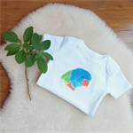 Rainbow Lorikeet - Baby Onesie Organic Cotton - Bird Clothing Gift