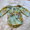 Size 0 - long sleeve romper, baby girl