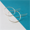 925 Sterling Silver Circle Hoop on Square Hook Earrings