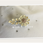 Wedding Bridemaid Special Occasion Clip Satin Flower Ivory Gold