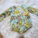 Size 0, Long sleeve romper, vintage, baby girl