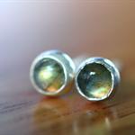 Labradorite Studs, 5mm Natural Gemstone & Sterling Silver Post Earrings