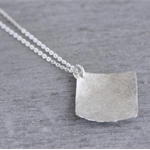 Diamond Shaped Sterling Silver Necklace, Geometric Jewellery, Sterling Necklace