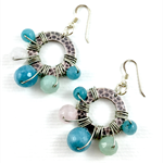 Semi Precious stone earrings with Sterling silver hooks