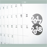 2017-2018 PRINTED Mid Year Wall Planner /  Calendar