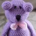 Dani Bear: crochet, safe, OOAK, washable, baby shower, girl