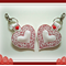1 x Decorative Love Heart Key Ring