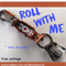 ROLL WITH ME keyring- 3 dice included