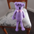 Dani Bear: crochet, safe, OOAK, washable, baby shower, girl